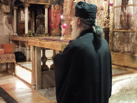 The Orthodox church owns the cruficixion site at the Holy Sepulchre