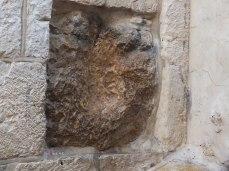The hand print of Jesus