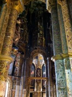 Inside the charola