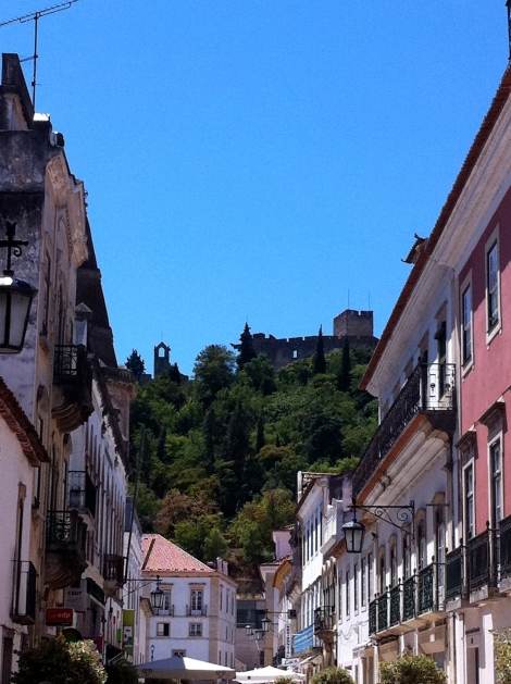 Templar castle seen from Tomar town centre