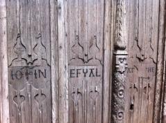 Door inscription