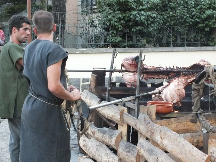 Hog roast - medieval style
