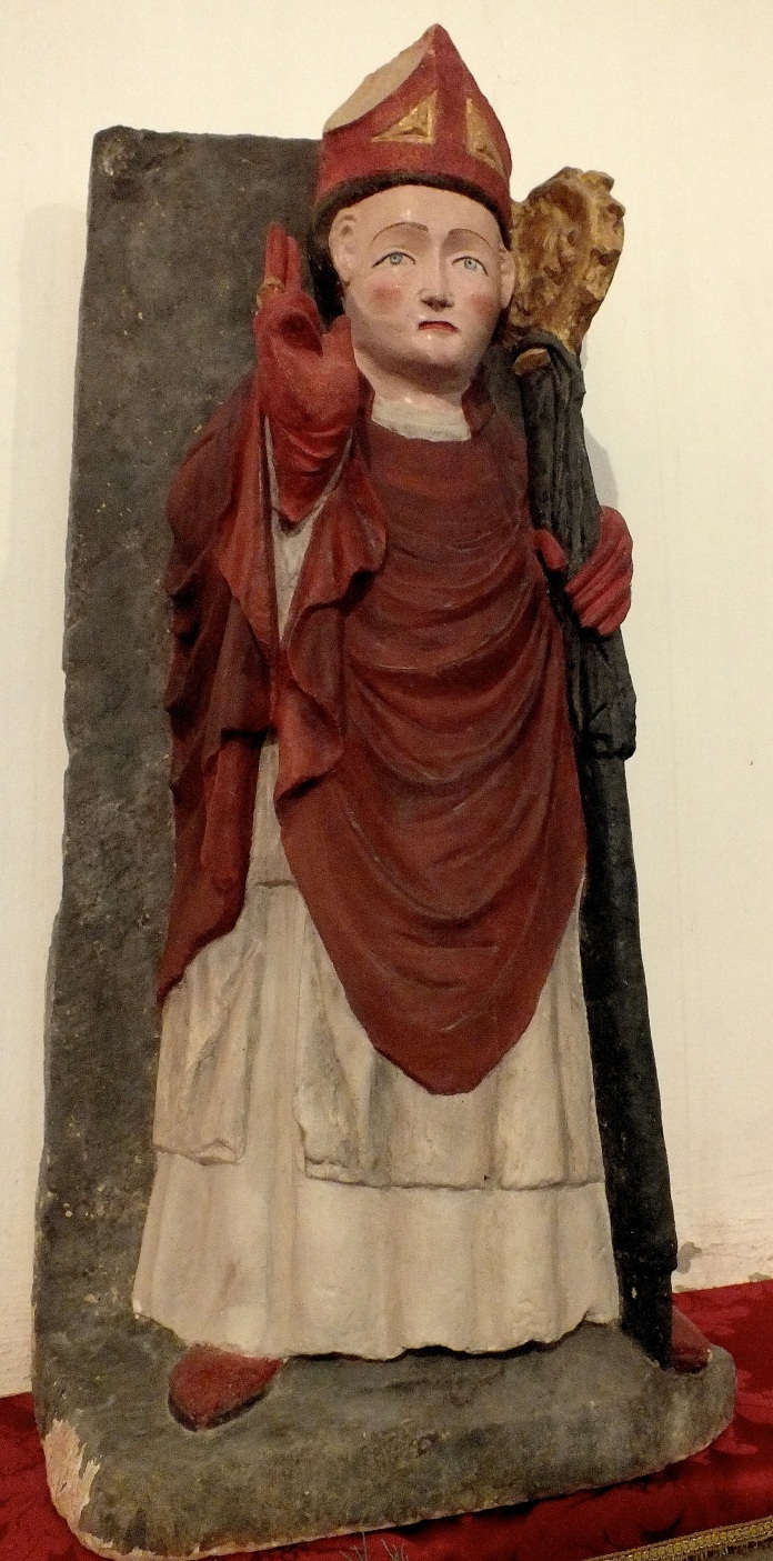 A statue of a bishop
