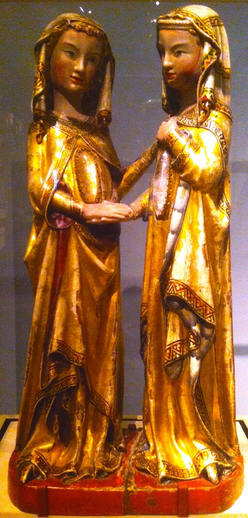A medieval depiction of The Visitation