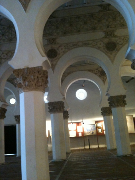 Formerly a synagogue in Toledo - a city of three Abrahamic faiths in the Middle Ages