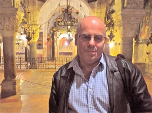 Me at the Holy Sepulchre in Jerusalem in 2012